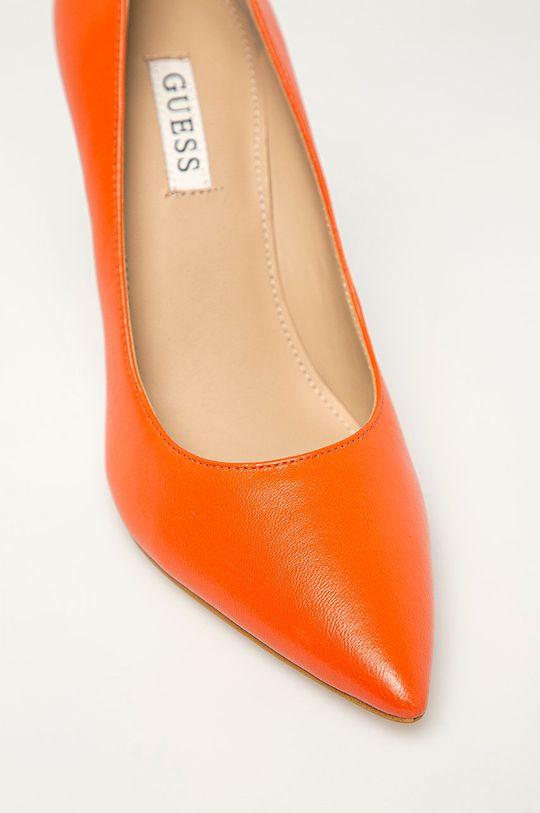 oranžová Guess - Kožené lodičky