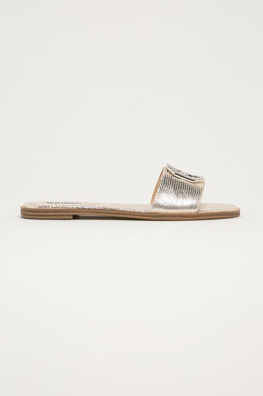 zlatá Guess - Kožené pantofle Dámský