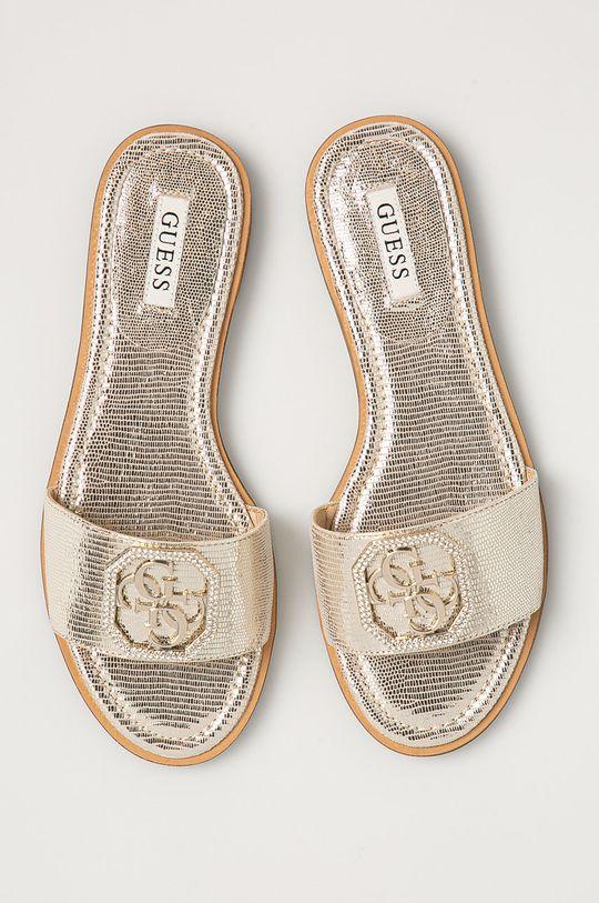 zlatá Guess - Kožené pantofle
