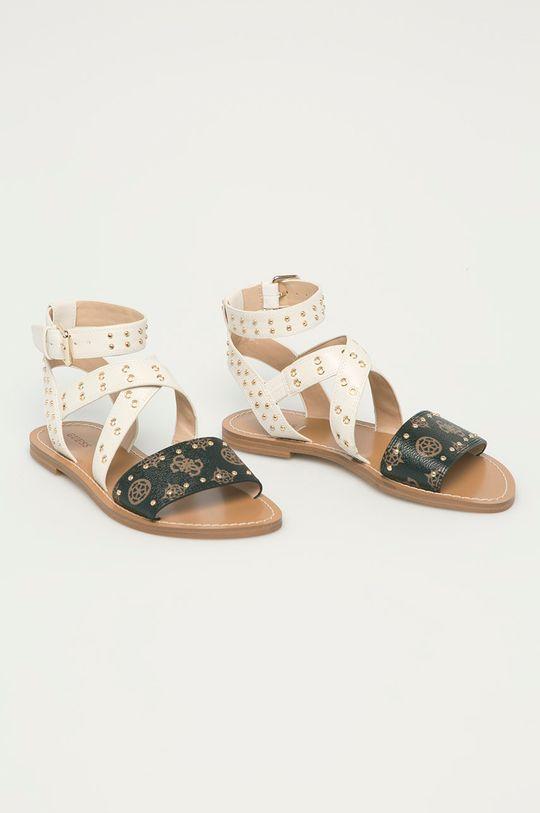 Guess - Sandále krémová