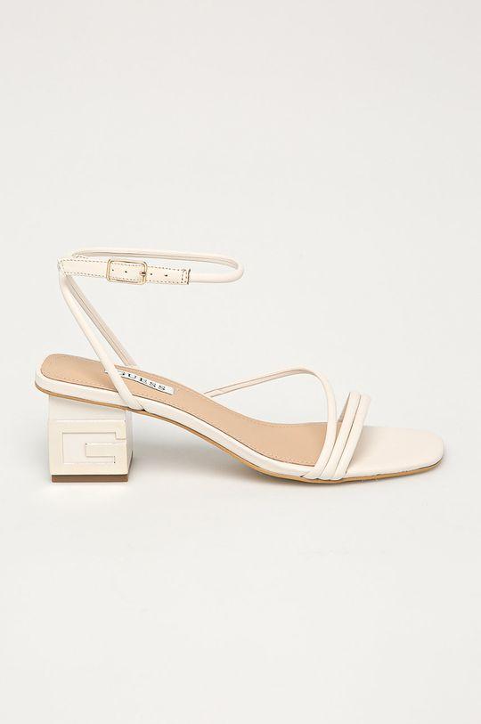 bílá Guess - Kožené sandály Dámský