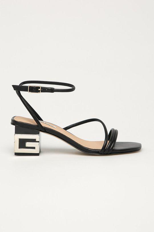 černá Guess - Kožené sandály Dámský