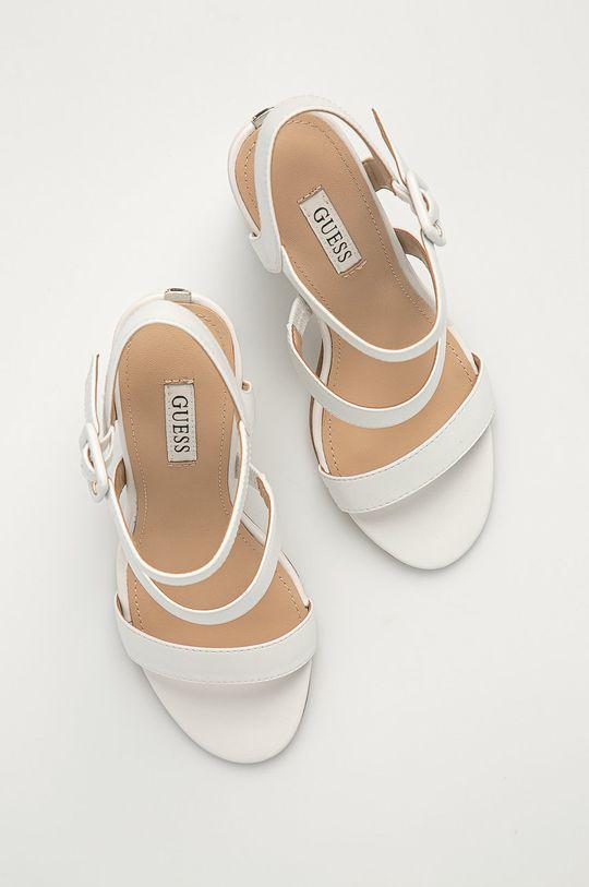 bílá Guess - Kožené sandály