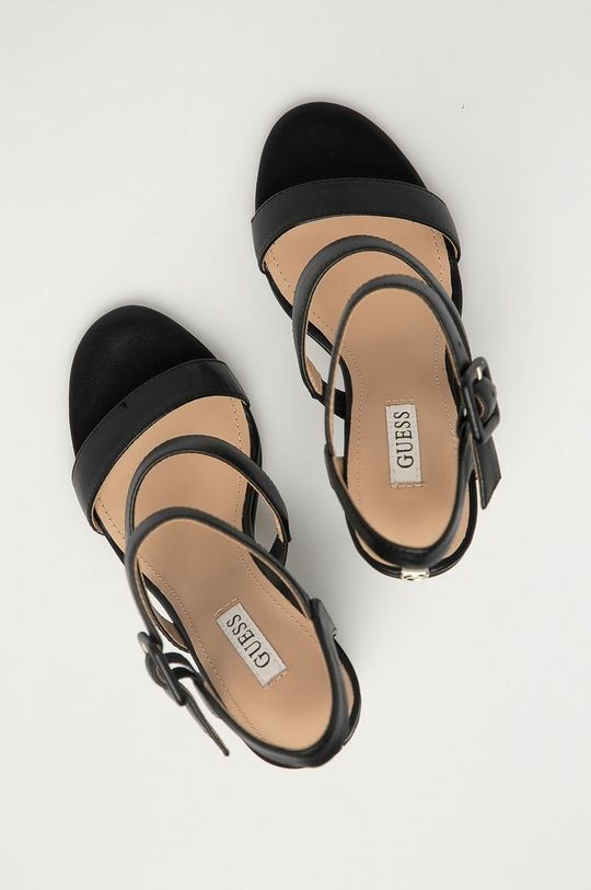 černá Guess - Kožené sandály