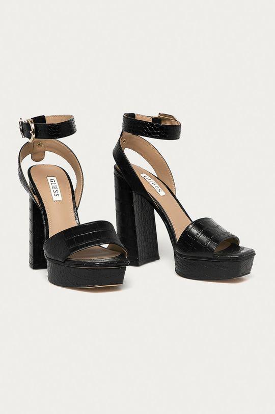 Guess - Sandále čierna