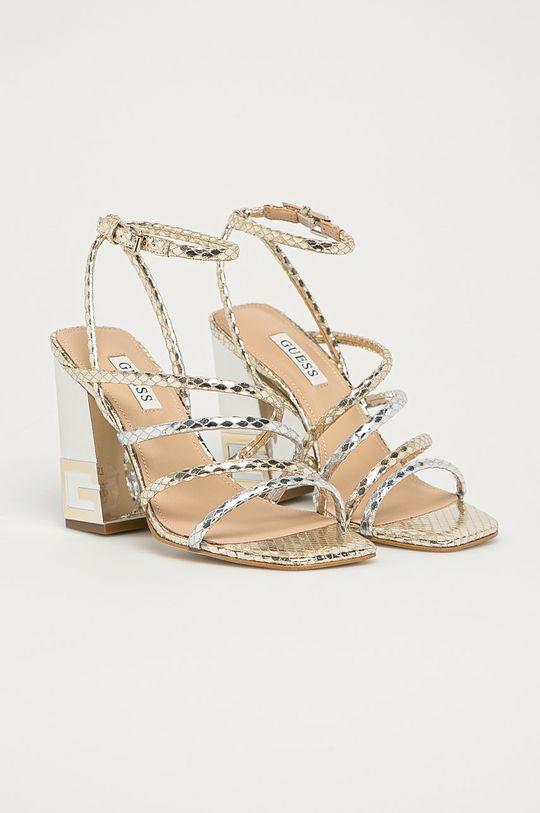 Guess - Sandály zlatá