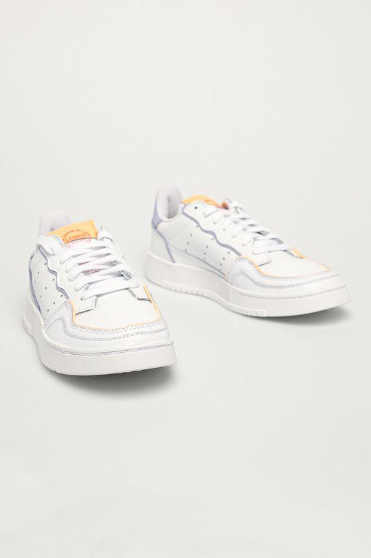 adidas Originals - Buty skórzane Supercourt biały