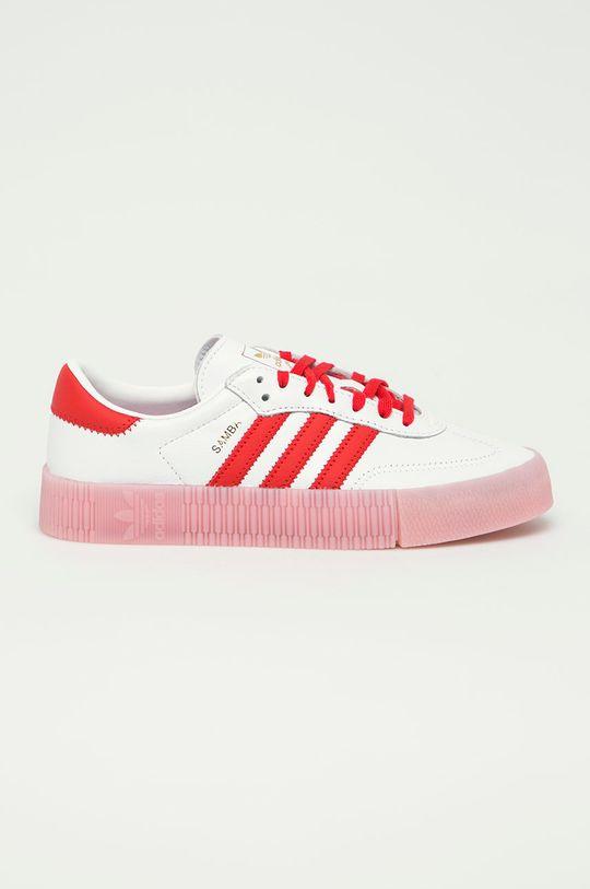 biela adidas Originals - Kožená obuv Sambarose Dámsky