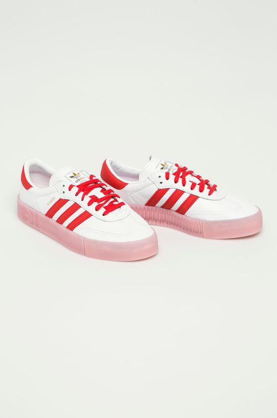 adidas Originals - Kožená obuv Sambarose biela