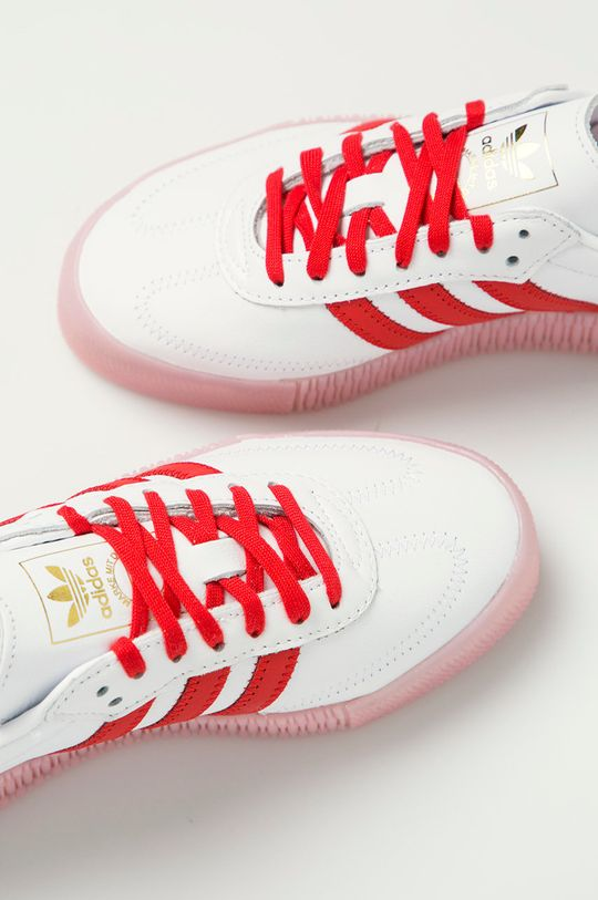 biela adidas Originals - Kožená obuv Sambarose