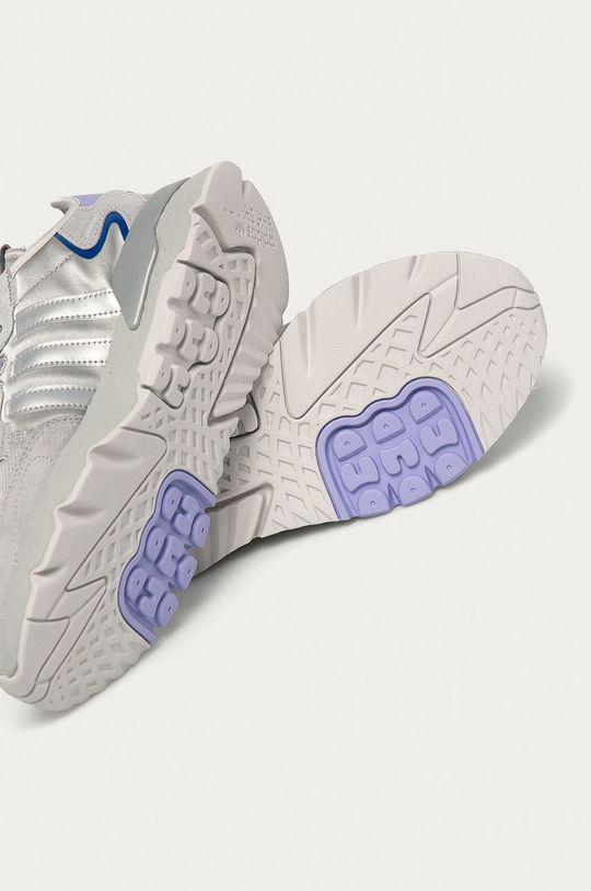 szary adidas Originals - Buty Nite Jogger