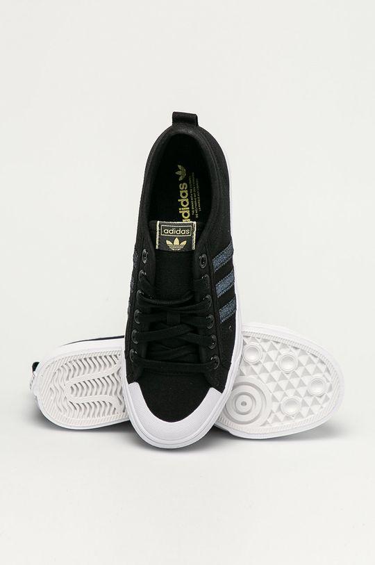 czarny adidas Originals - Tenisówki Nizza