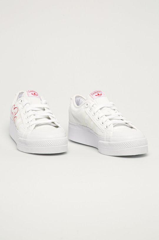 adidas Originals - Tenisówki Nizza Platform biały