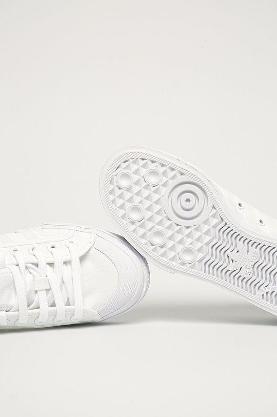 biały adidas Originals - Tenisówki Nizza Platform