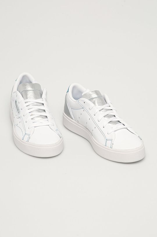 adidas Originals - Ghete de piele Sleek alb
