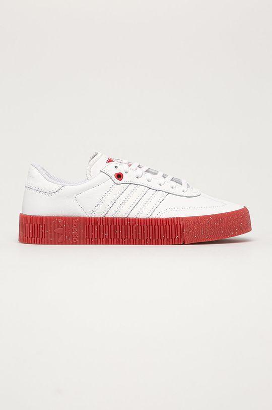 bílá adidas Originals - Kožené boty Sambarose Dámský