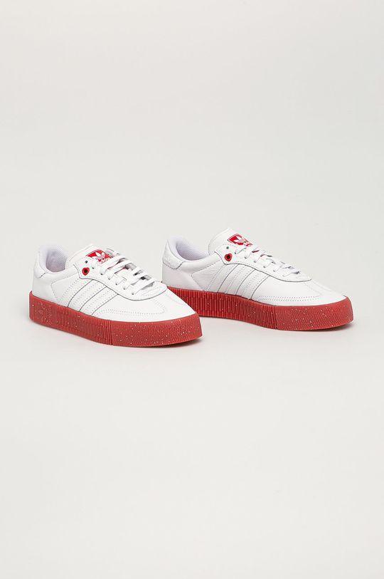adidas Originals - Buty skórzane Sambarose biały