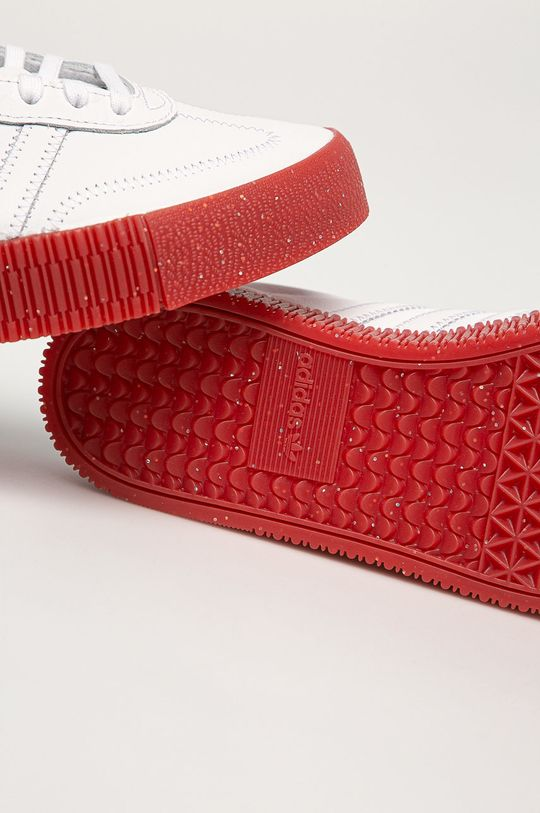 biały adidas Originals - Buty skórzane Sambarose