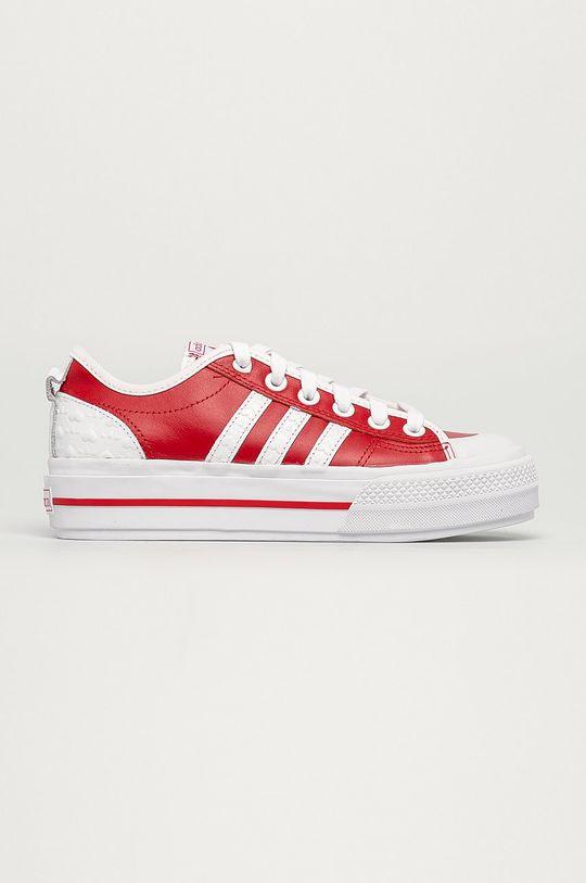 červená adidas Originals - Kožené tenisky Nizza Dámský