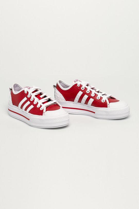 adidas Originals - Kožené tenisky Nizza červená