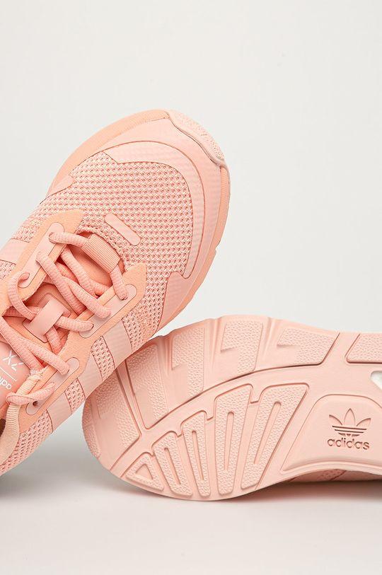 różowy adidas Originals - Buty ZX 1K Boost