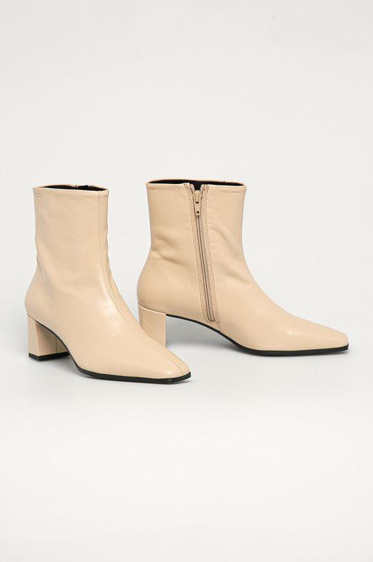 Vagabond - Kožené kotníkové boty Tessa tělová
