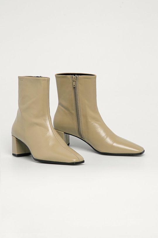 Vagabond - Kožené kotníkové boty Tessa béžová