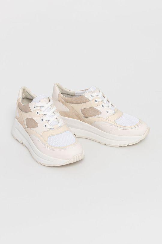 Geox - Topánky krémová