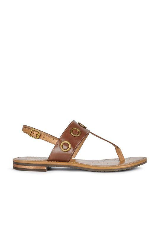 maro auriu Geox - Sandale de piele De femei