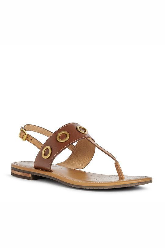 Geox - Sandale de piele maro auriu