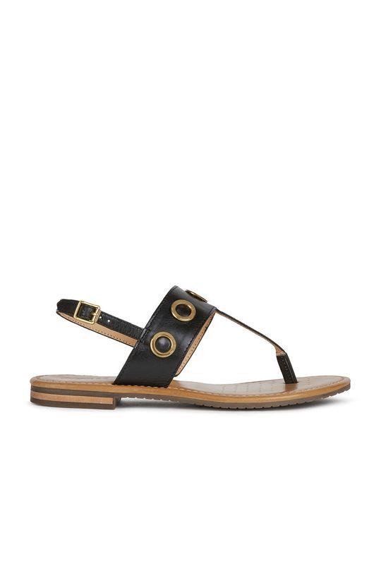czarny Geox - Sandały skórzane Damski