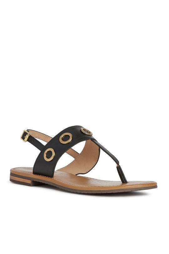 Geox - Sandały skórzane czarny