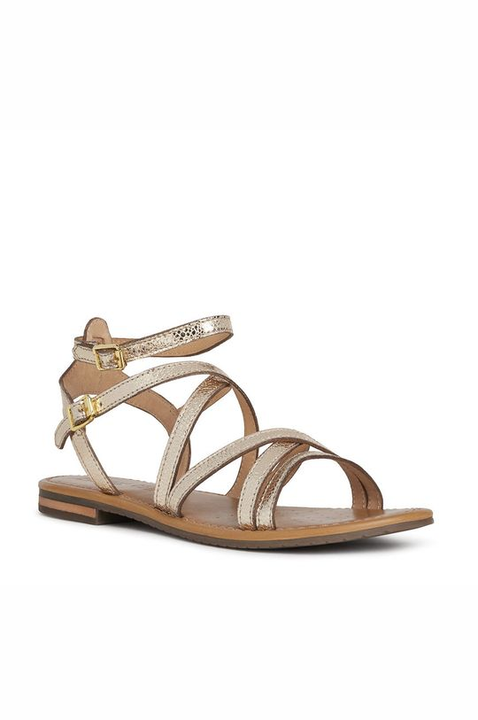 Geox - Sandały skórzane złoty