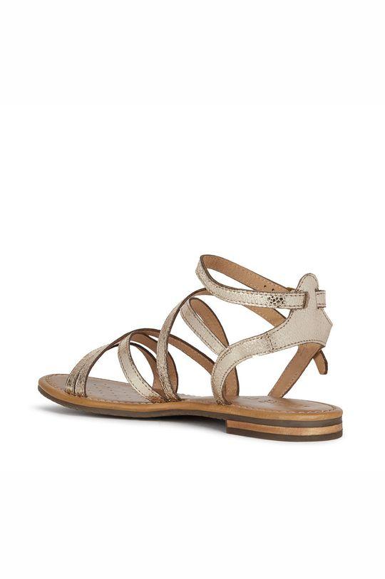 złoty Geox - Sandały skórzane
