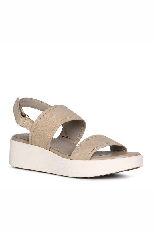 Geox - Kožené sandále piesková