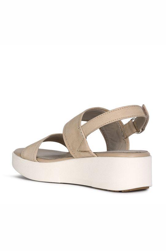 piesková Geox - Kožené sandále