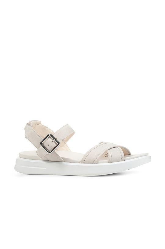biały Geox - Sandały skórzane Damski