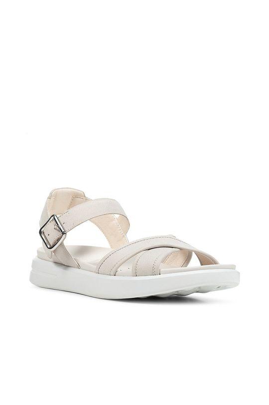 Geox - Sandały skórzane biały