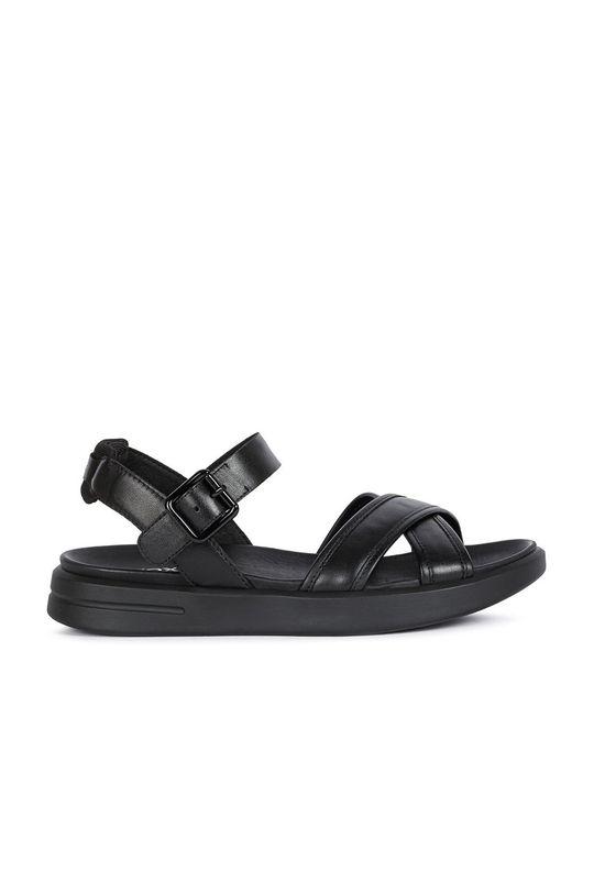černá Geox - Kožené sandály Dámský
