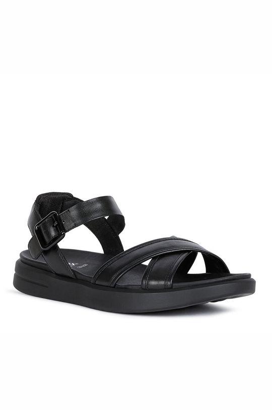 Geox - Kožené sandály černá