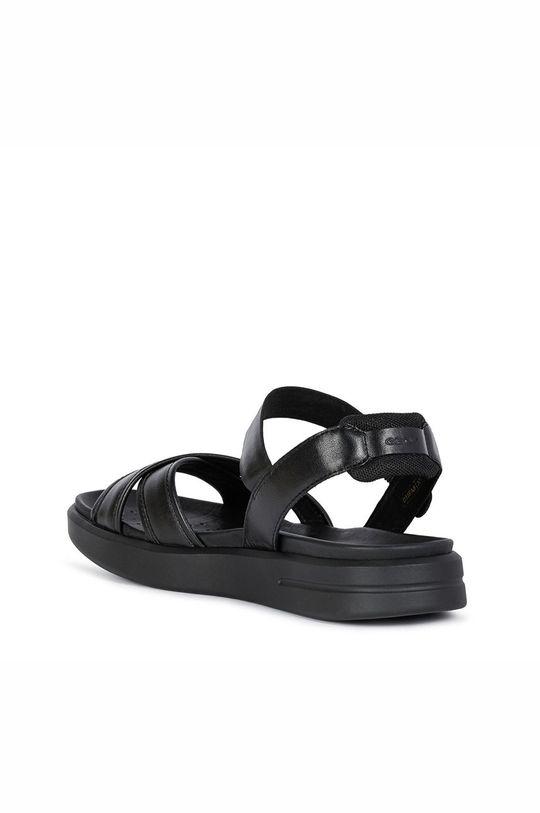 černá Geox - Kožené sandály
