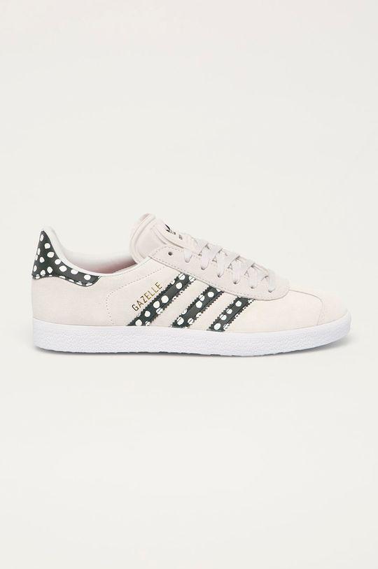 světle šedá adidas Originals - Semišové boty Gazelle Dámský