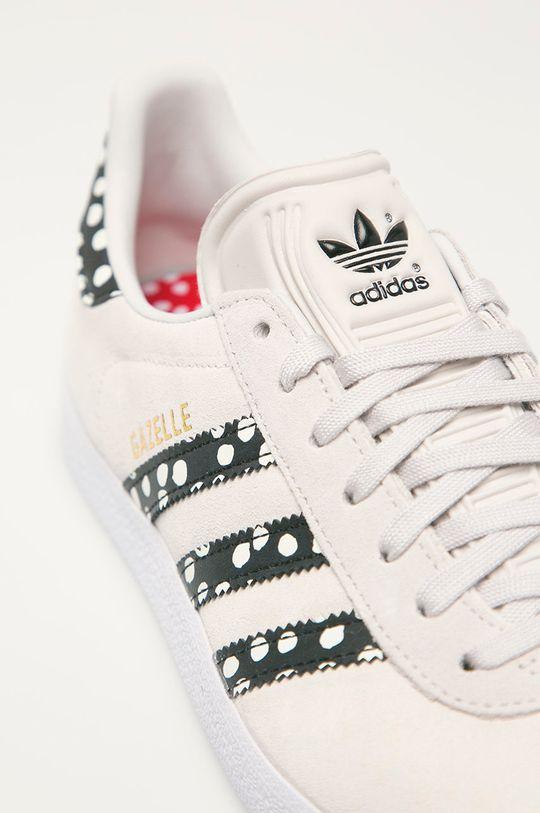 světle šedá adidas Originals - Semišové boty Gazelle