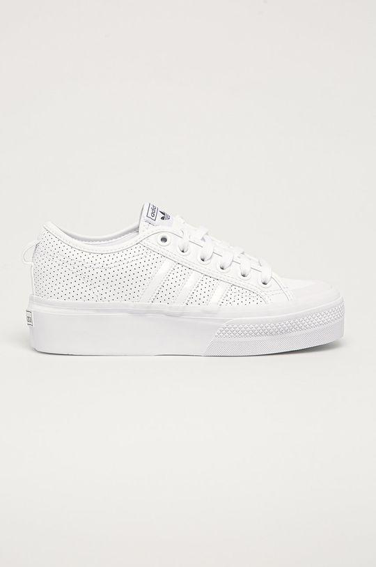 biela adidas Originals - Topánky Nizza Platform Dámsky