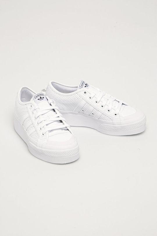 adidas Originals - Topánky Nizza Platform biela