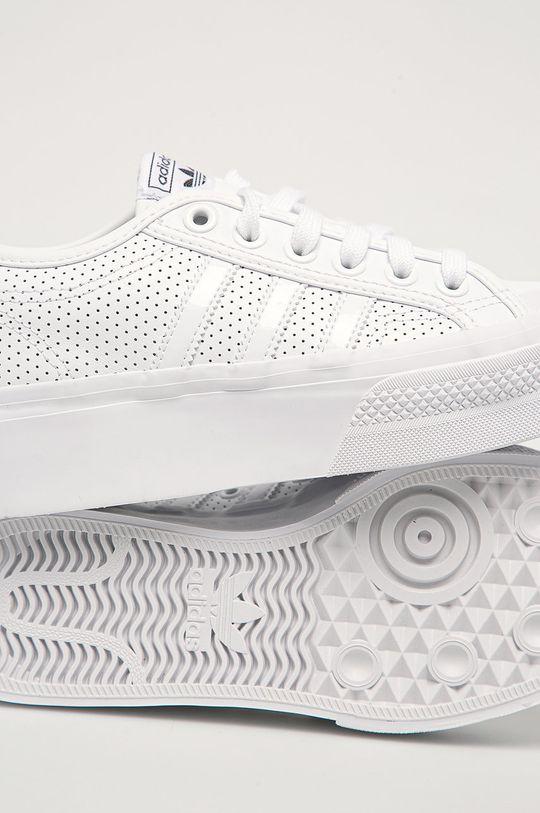 biela adidas Originals - Topánky Nizza Platform