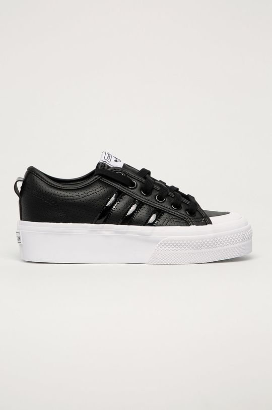 negru adidas Originals - Ghete de piele Nizza Platform De femei