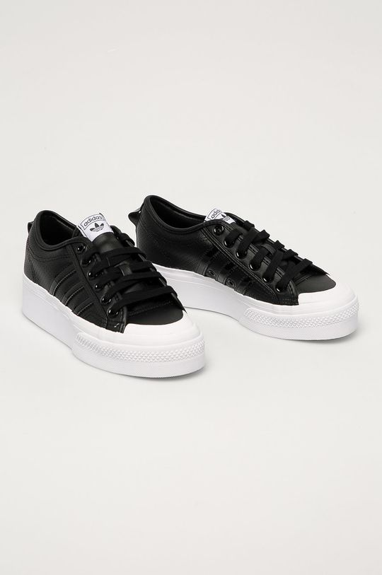 adidas Originals - Ghete de piele Nizza Platform negru