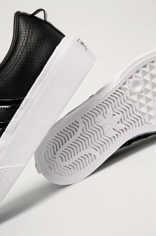 negru adidas Originals - Ghete de piele Nizza Platform