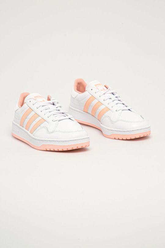 adidas Originals - Kožená obuv Team Court biela